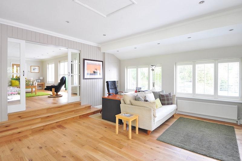 contemporary farmhouse living room